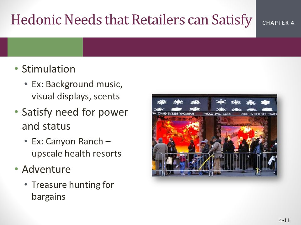 Hedonic Needs that Retailers can Satisfy