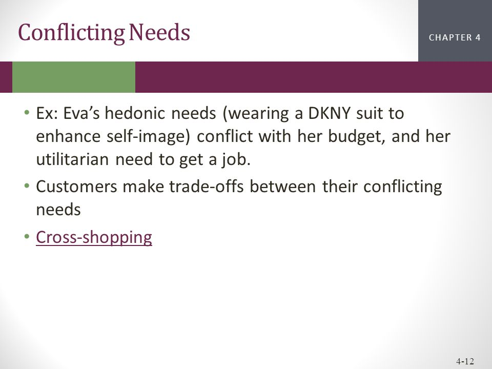 Conflicting Needs