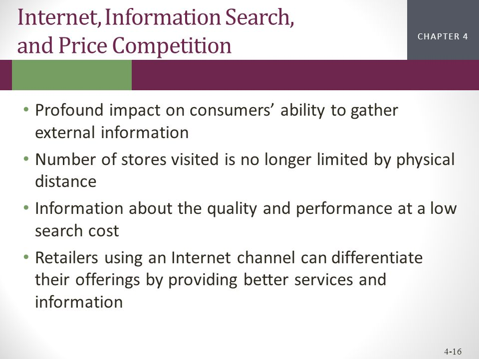 Internet, Information Search, and Price Competition