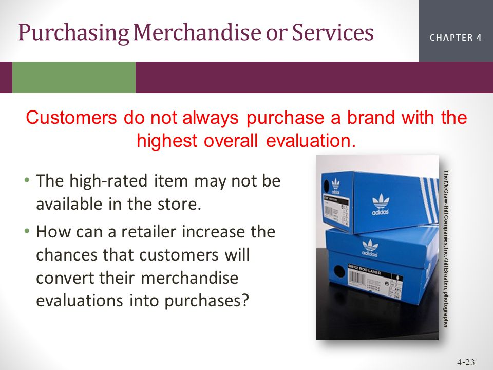 Purchasing Merchandise or Services