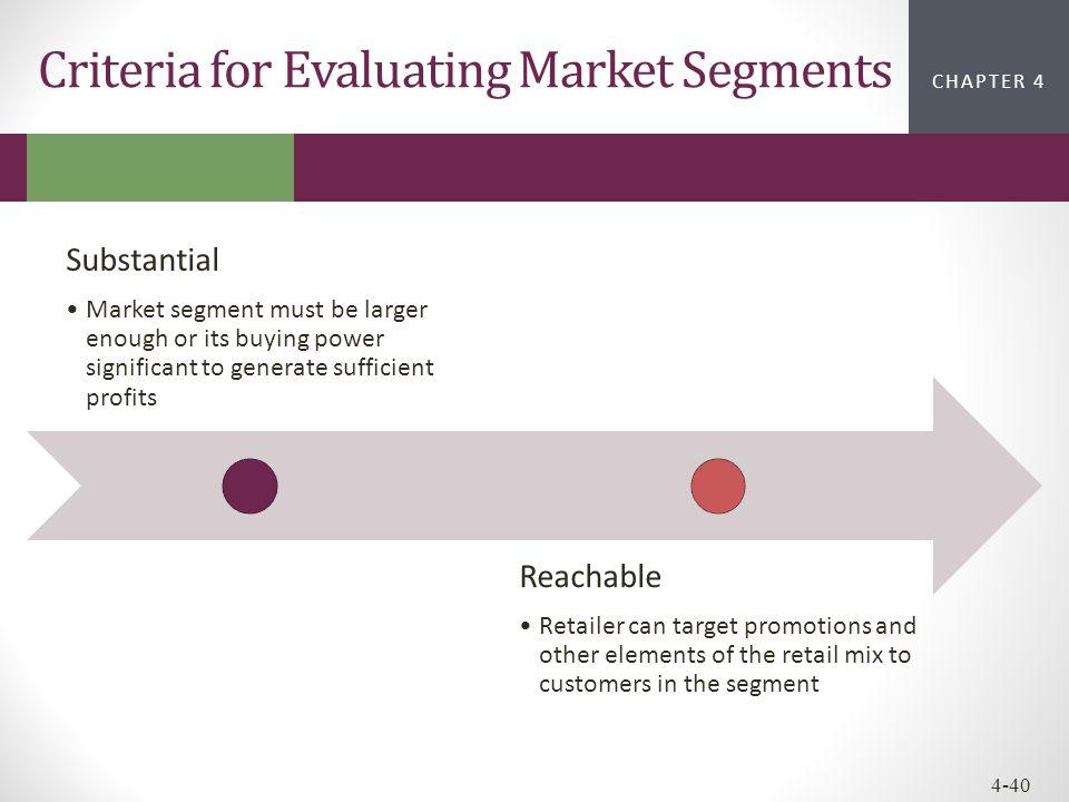 Criteria for Evaluating Market Segments