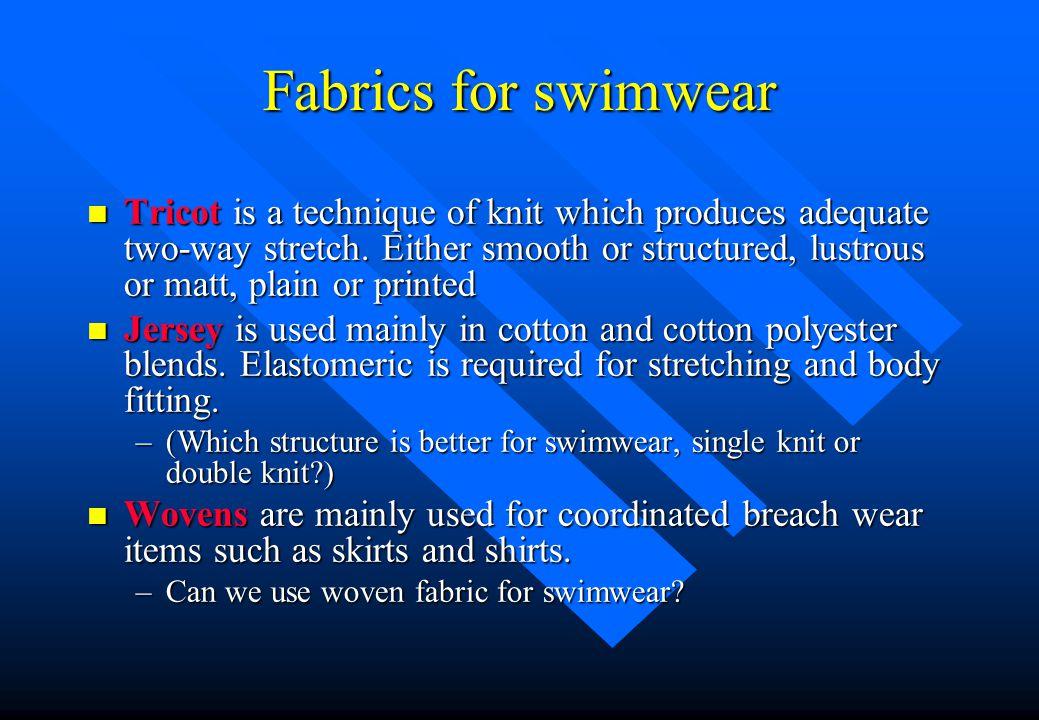 Fabrics for swimwear