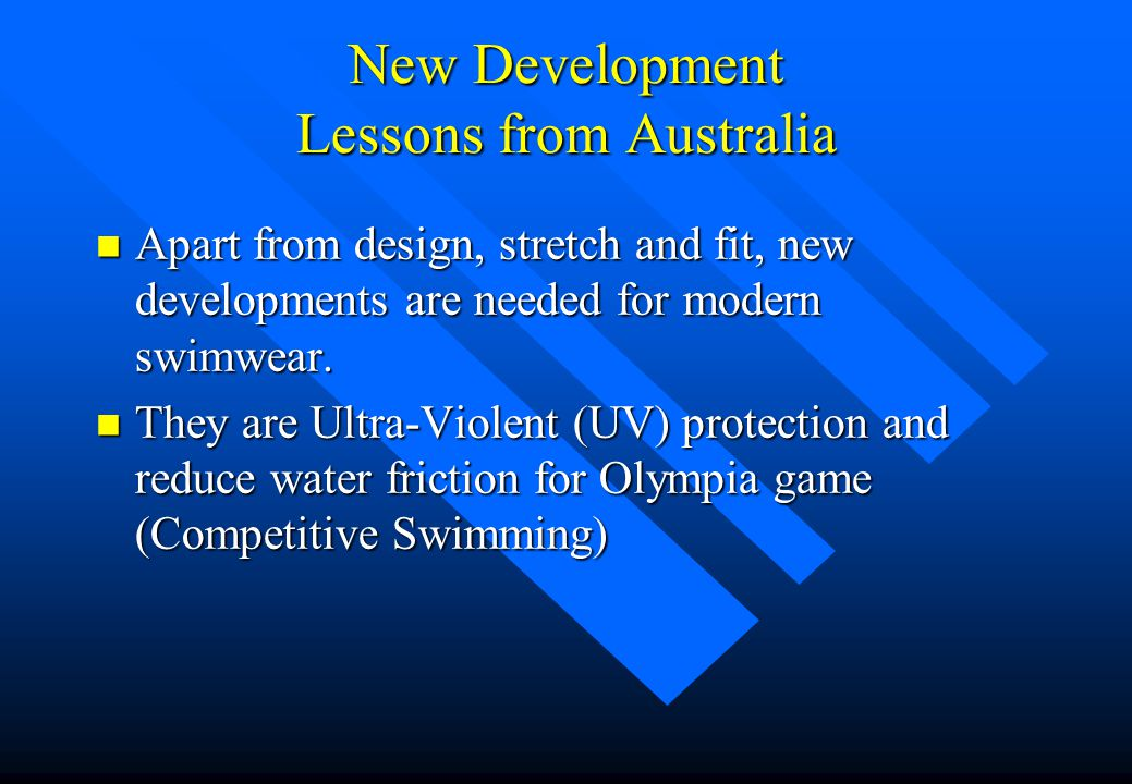 New Development Lessons from Australia