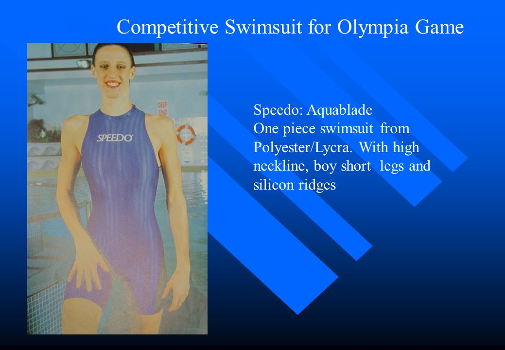 Competitive Swimsuit for Olympia Game