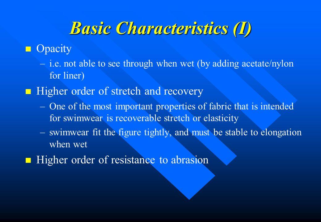 Basic Characteristics (I)