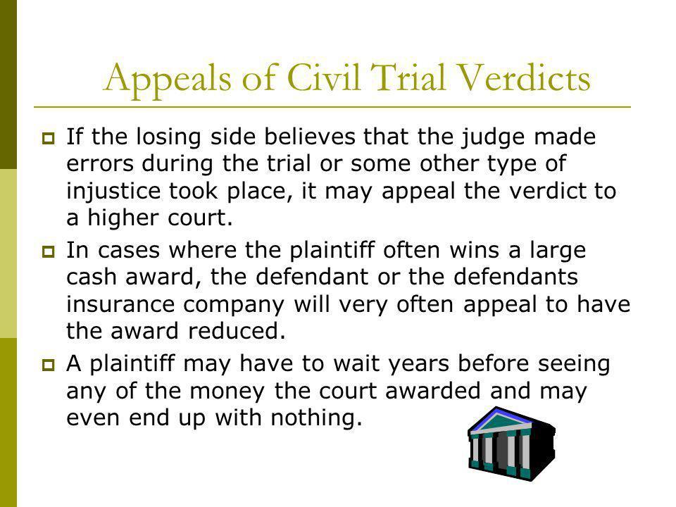 Appeals of Civil Trial Verdicts