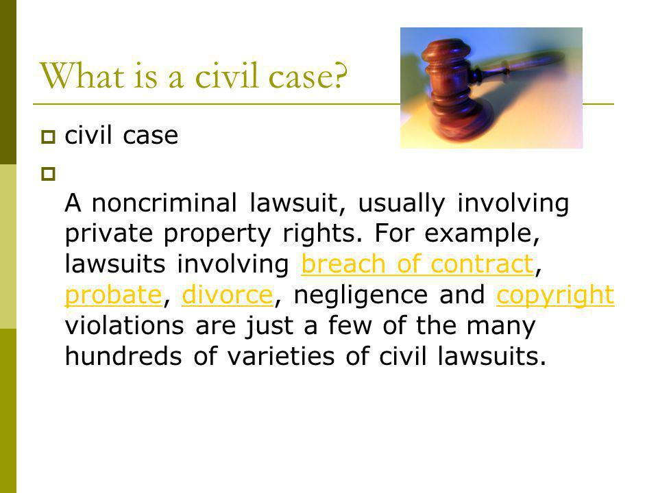What is a civil case civil case