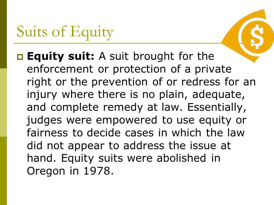 Suits of Equity