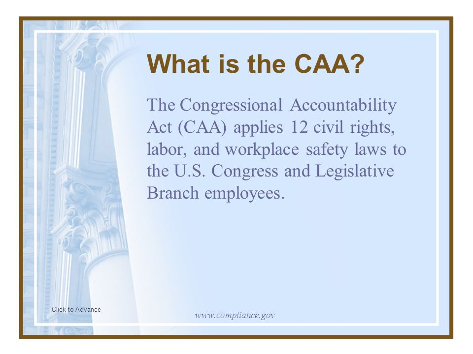 What is the CAA
