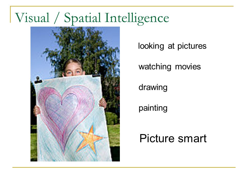 Visual / Spatial Intelligence