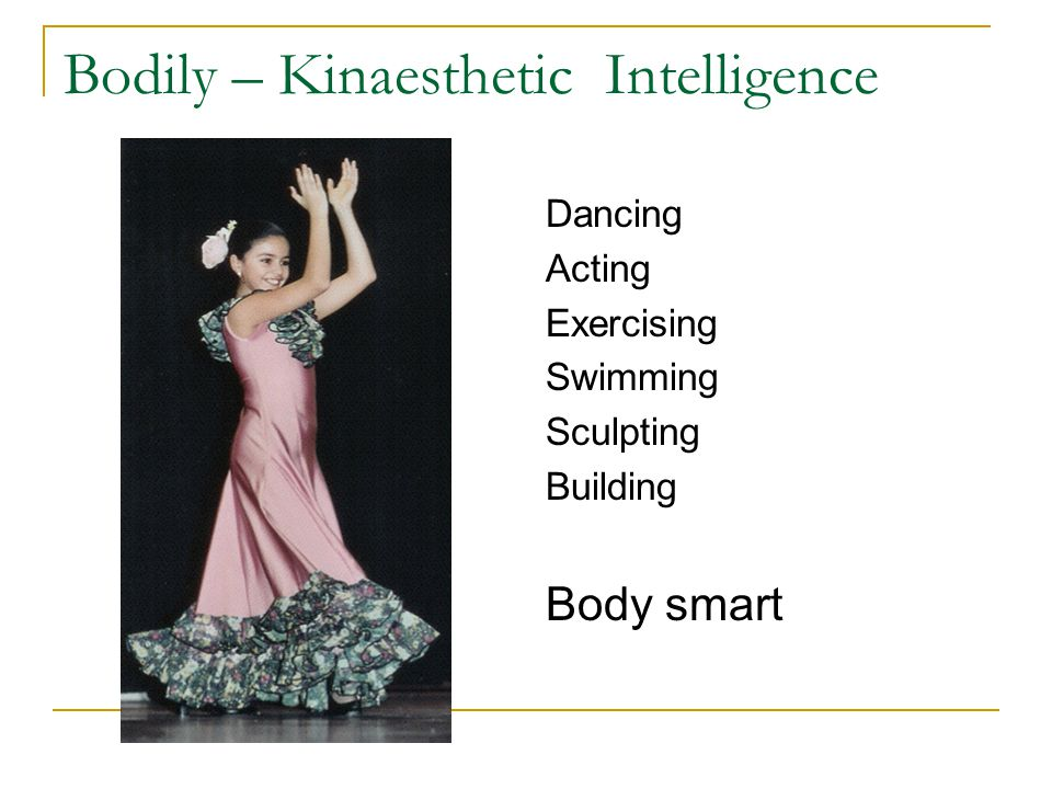 Bodily – Kinaesthetic Intelligence
