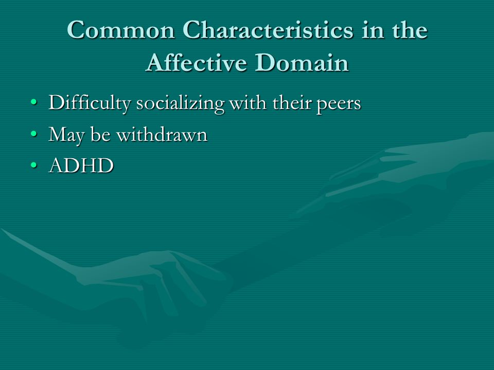 Common Characteristics in the Affective Domain