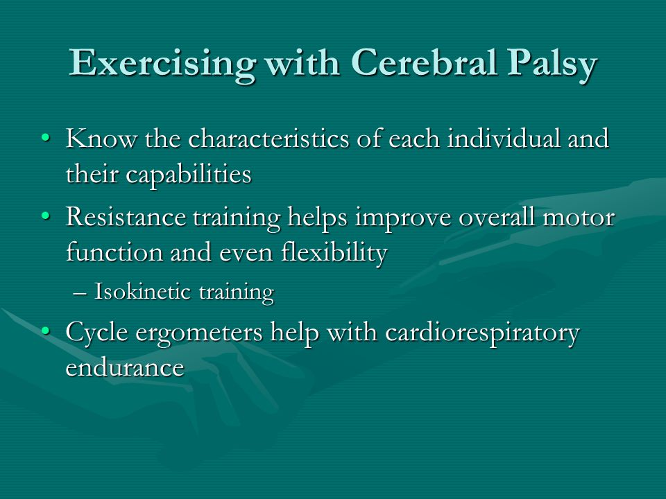 Exercising with Cerebral Palsy
