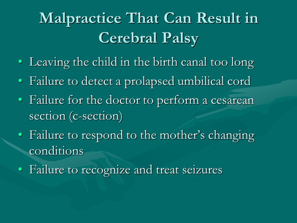 Malpractice That Can Result in Cerebral Palsy