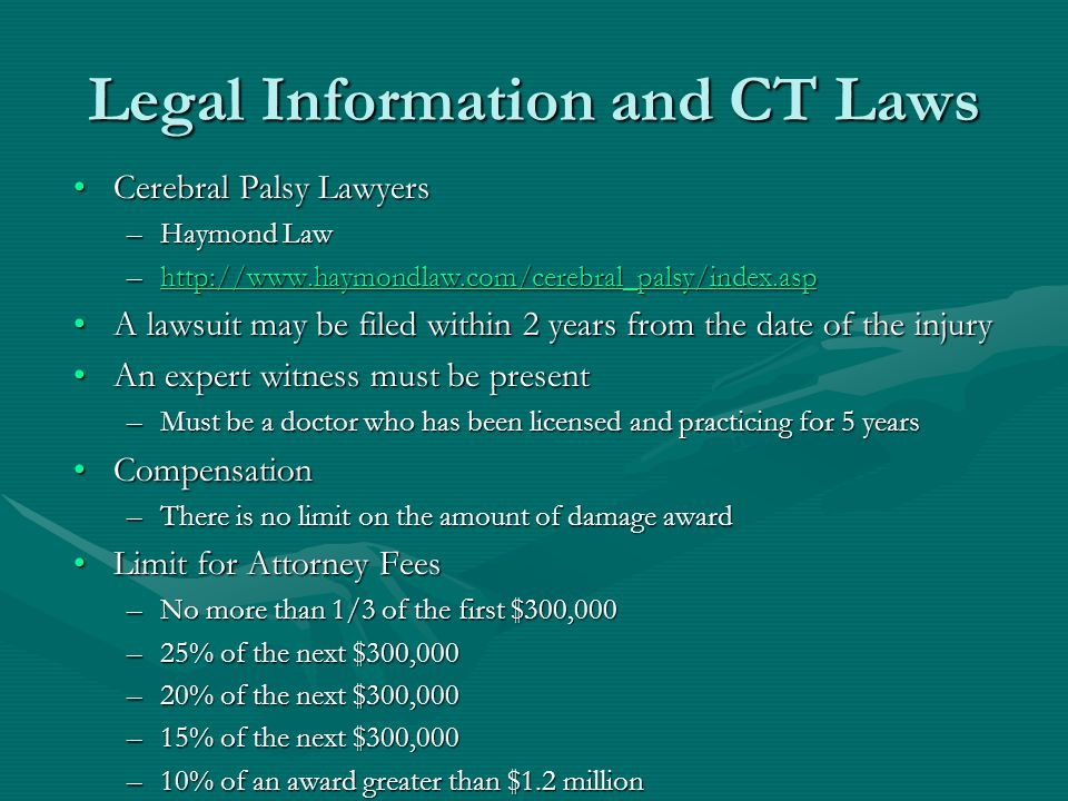 Legal Information and CT Laws