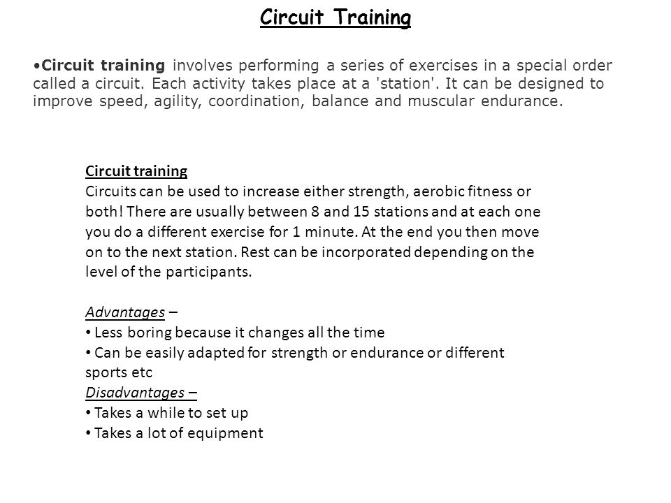 Circuit Training Circuit training