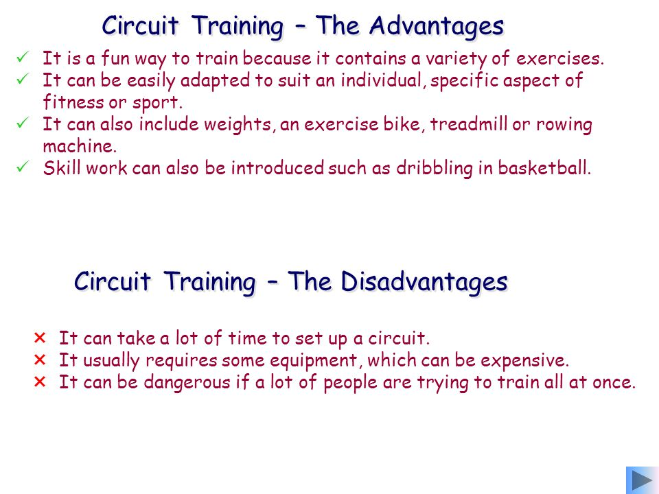 Circuit Training – The Advantages