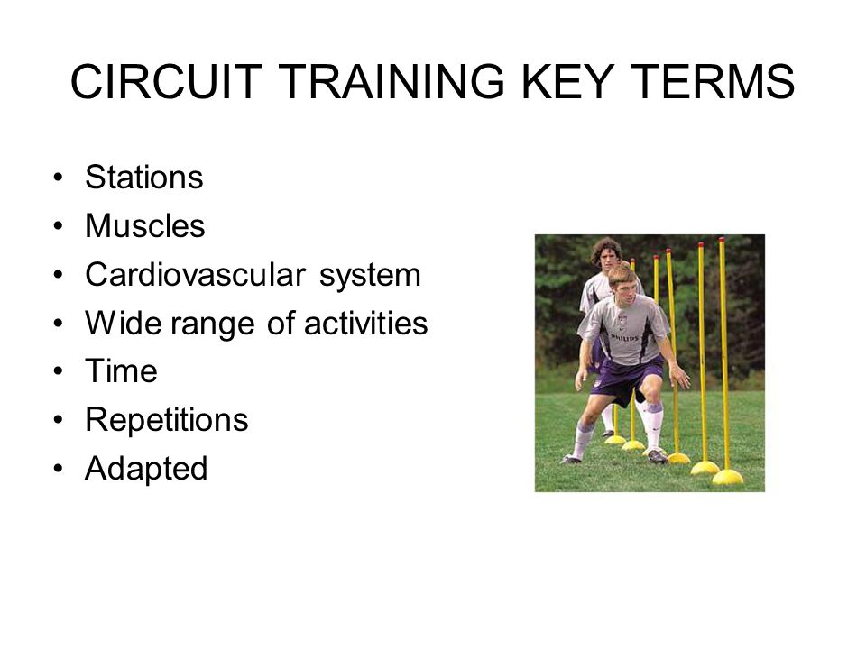 CIRCUIT TRAINING KEY TERMS