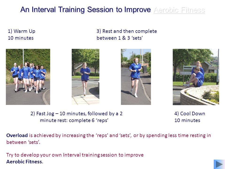 An Interval Training Session to Improve Aerobic Fitness