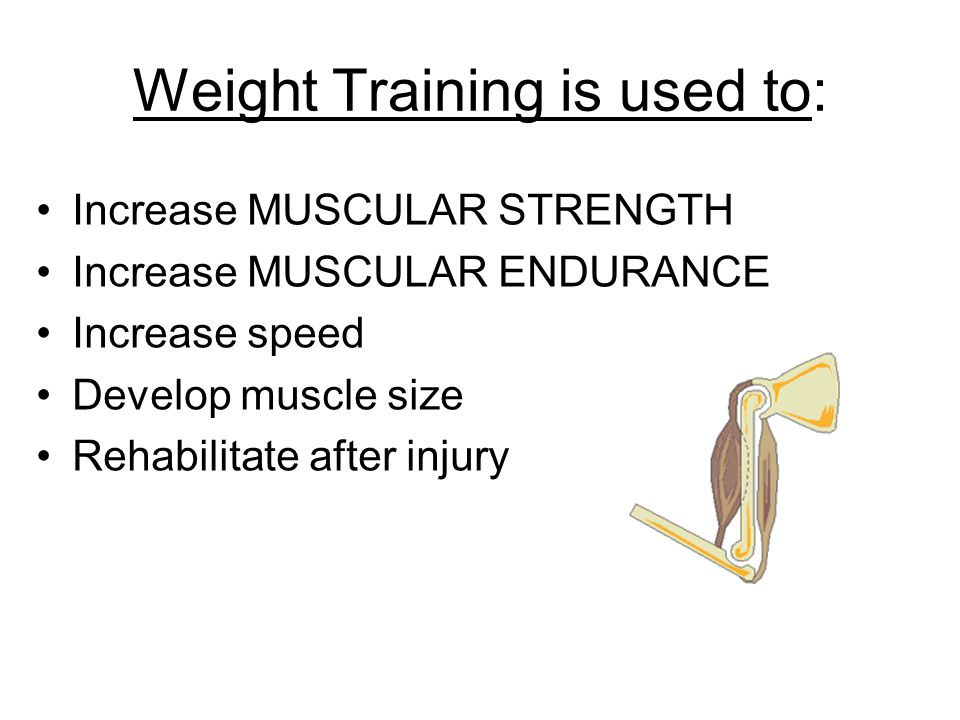 Weight Training is used to: