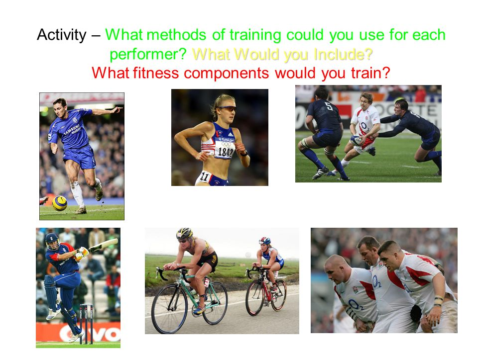 Activity – What methods of training could you use for each performer