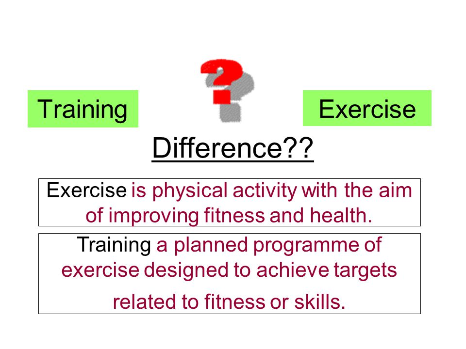 Difference Training Exercise