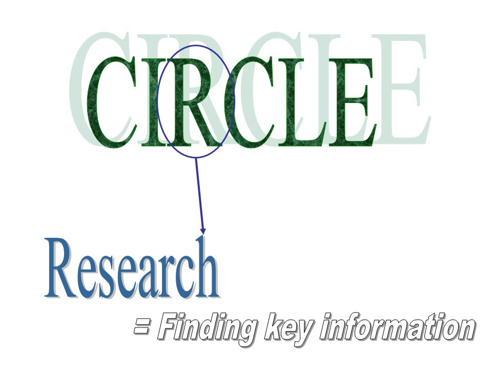 = Finding key information