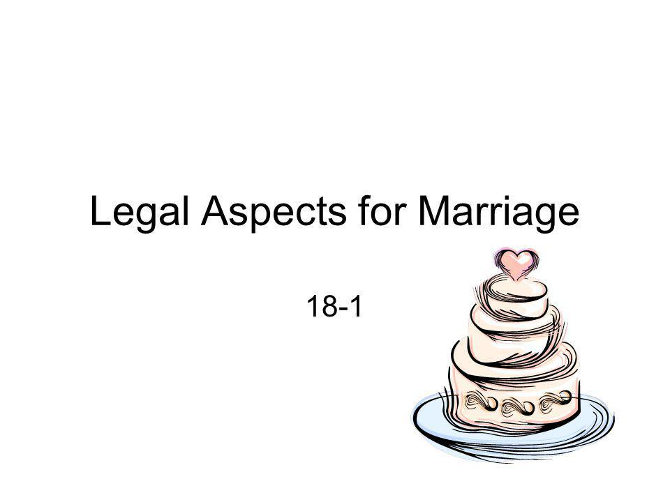 Legal Aspects for Marriage