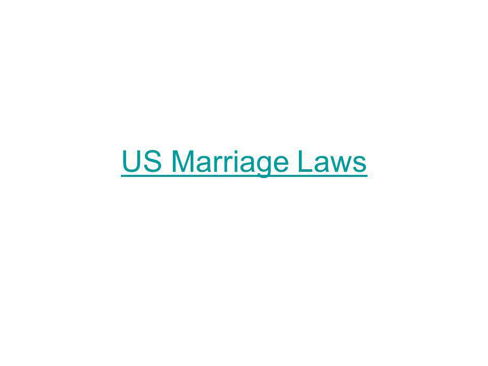 US Marriage Laws