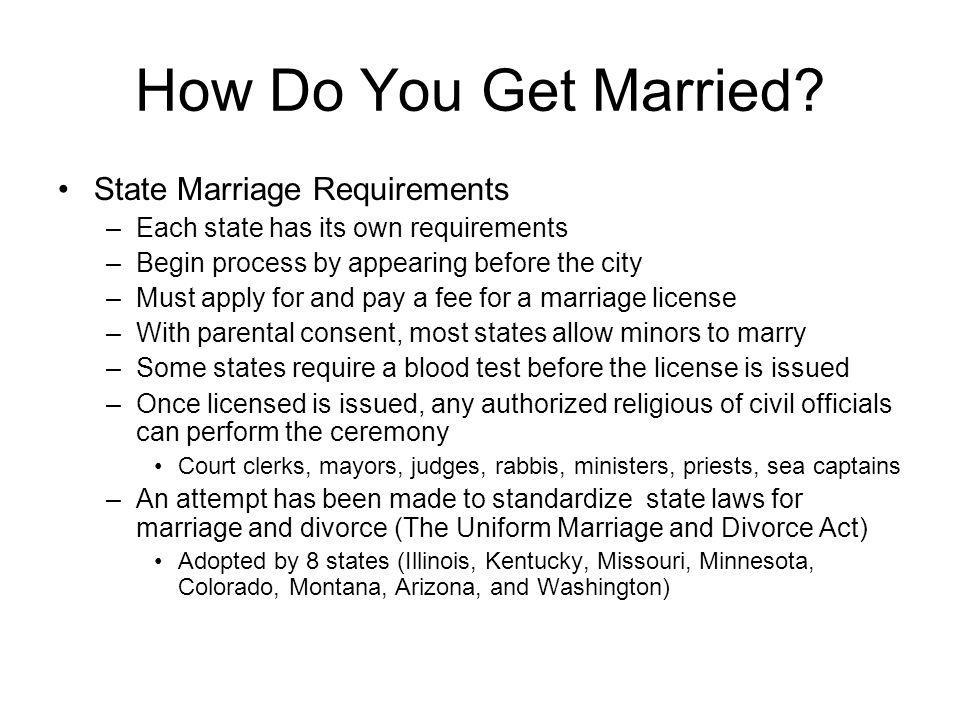 How Do You Get Married State Marriage Requirements