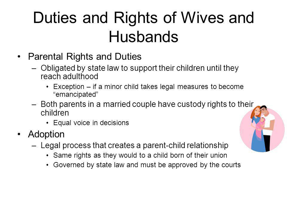 Duties and Rights of Wives and Husbands
