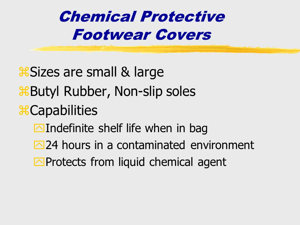 Chemical Protective Footwear Covers
