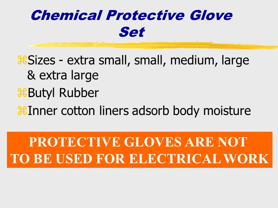 Chemical Protective Glove Set