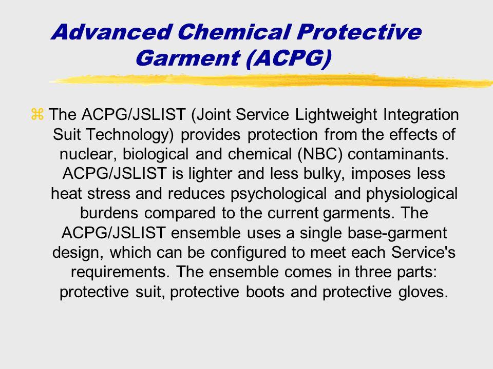Advanced Chemical Protective Garment (ACPG)