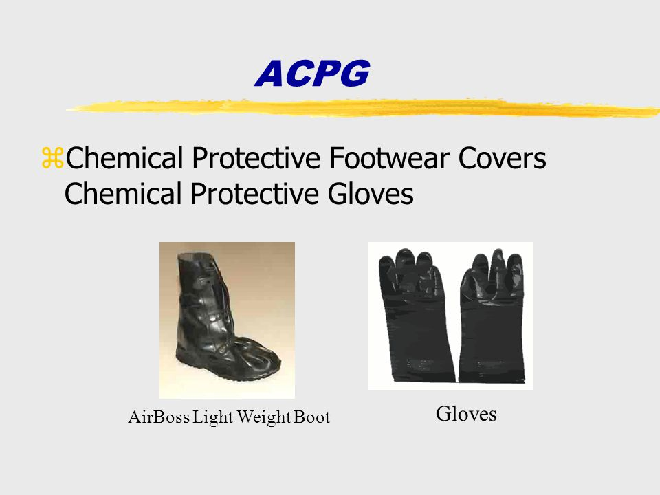 ACPG Chemical Protective Footwear Covers Chemical Protective Gloves