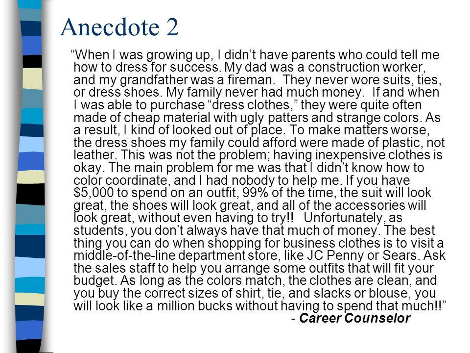 Anecdote 2