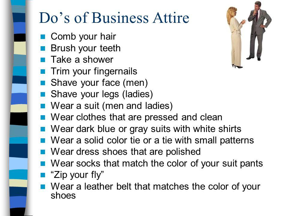 Do's of Business Attire