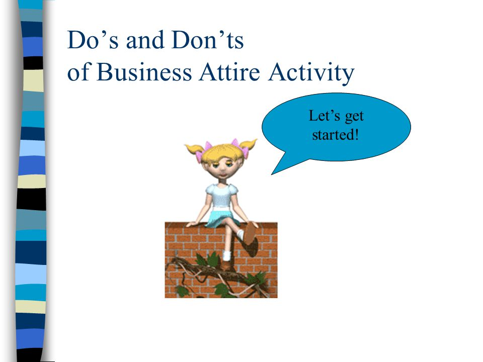 Do's and Don'ts of Business Attire Activity