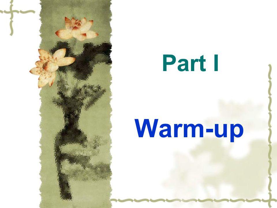 Part I Warm-up
