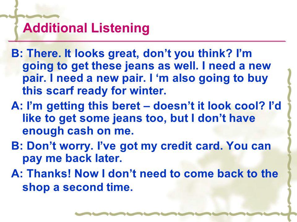 Additional Listening