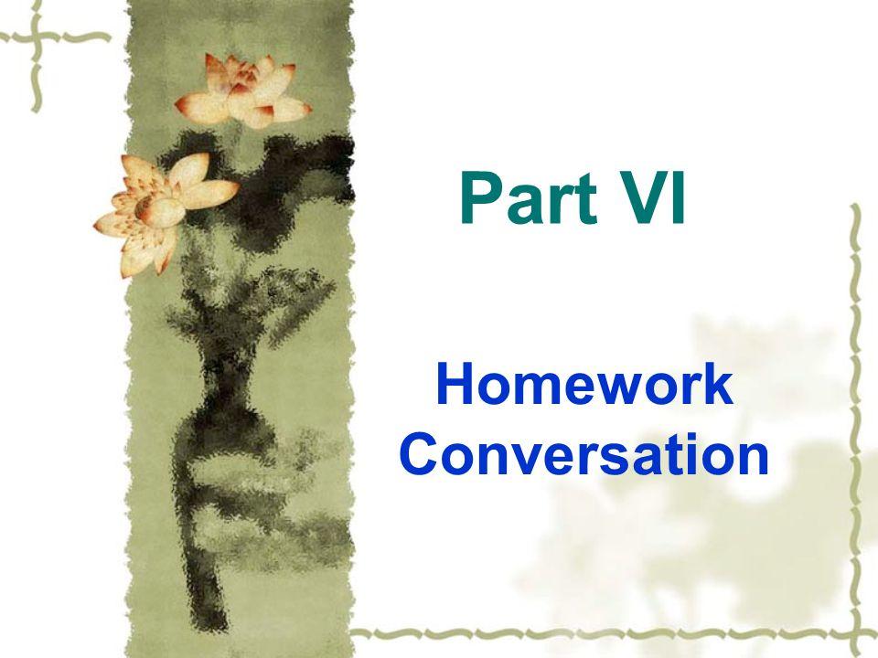Homework Conversation