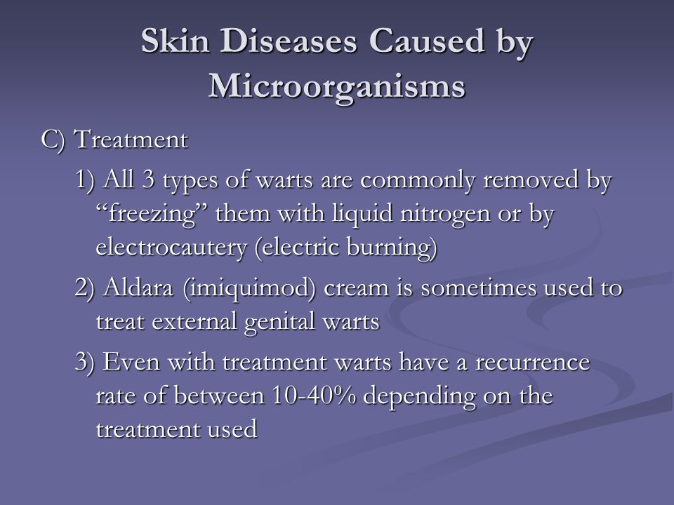 Skin Diseases Caused by Microorganisms