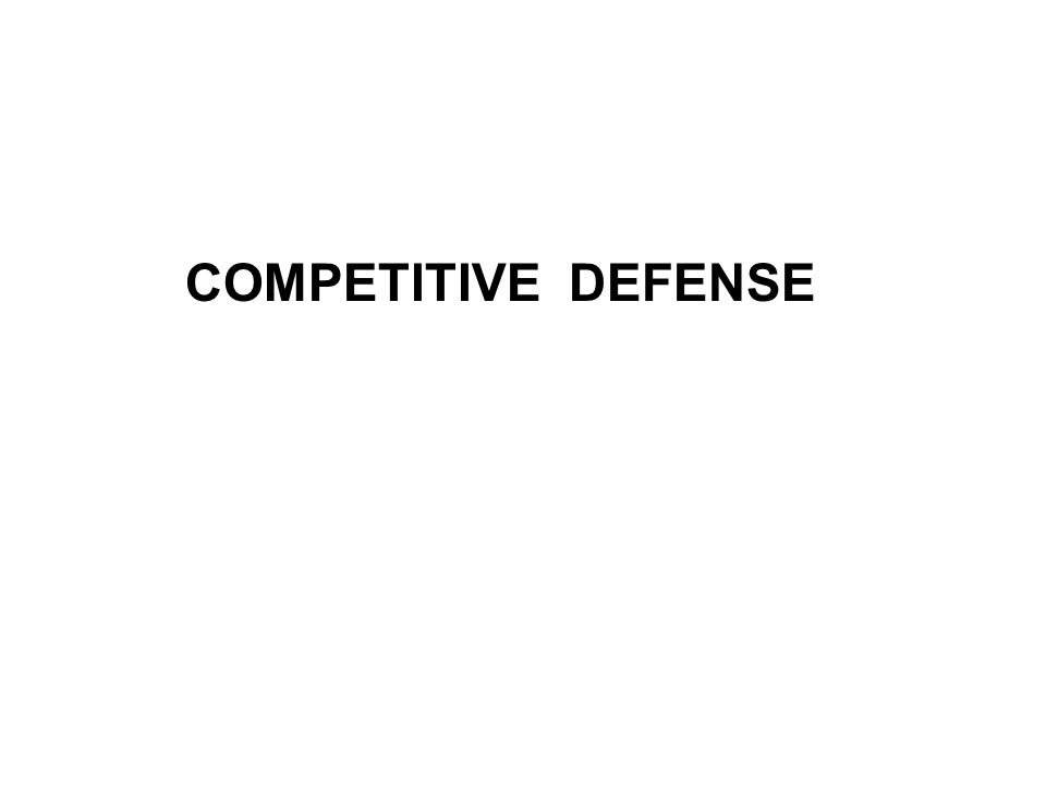 COMPETITIVE DEFENSE