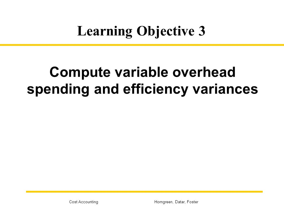 Compute variable overhead spending and efficiency variances