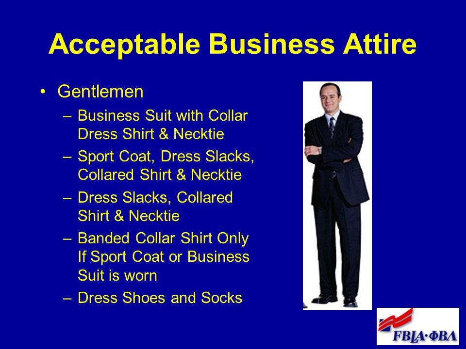 Acceptable Business Attire