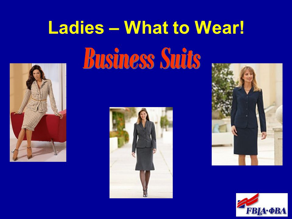 Ladies – What to Wear! Business Suits