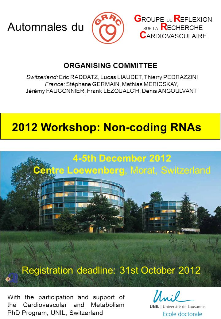 2012 Workshop: Non-coding RNAs