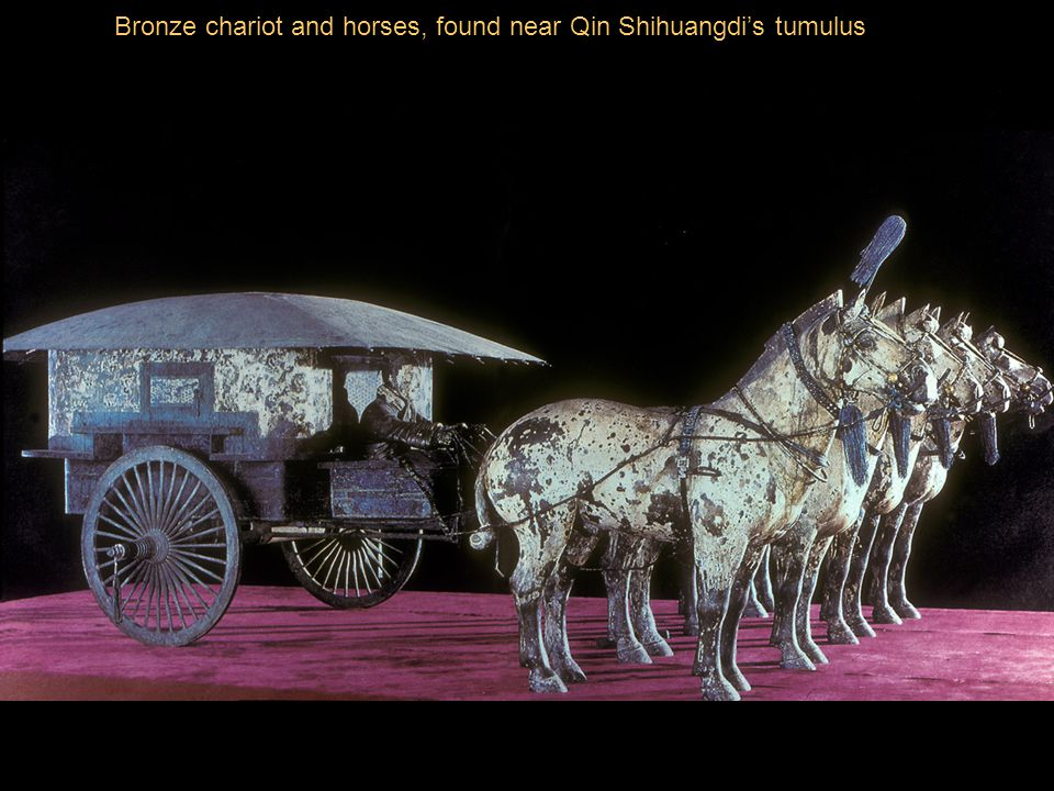 Bronze chariot and horses, found near Qin Shihuangdi's tumulus