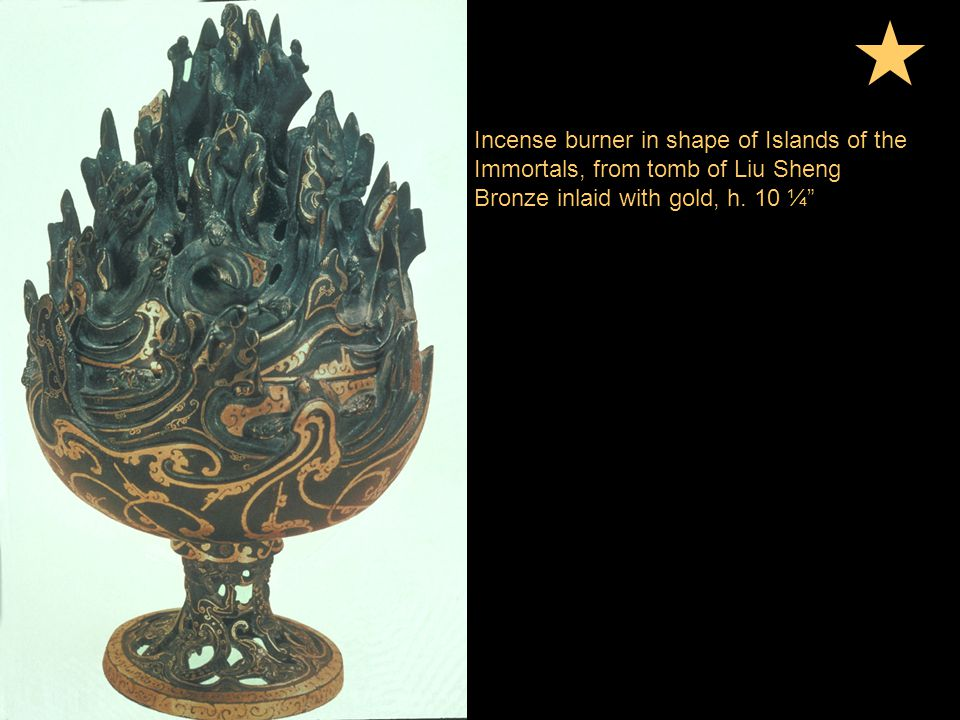 Incense burner in shape of Islands of the