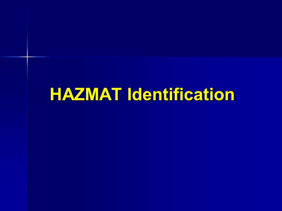 HAZMAT Identification